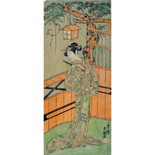 Ippitsusai Buncho: The actor Segawa Kikunojo II as Young Woman Holding a Flute - Legion of Honor
