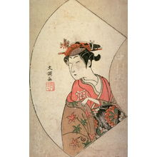 一筆斉文調: The Actor Nakamura Kiyosaburo as a Courtesan, from the book Ehon butai ogi - Legion of Honor