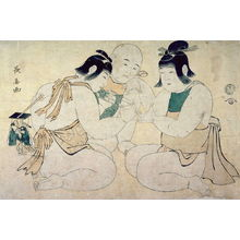 Eishosai Choki: Two Boys Playing Cat's Cradle - Legion of Honor