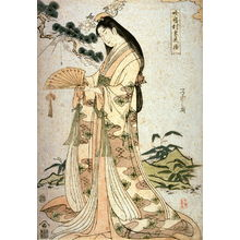 Eishi: Princess Sotoori (Sotoorihime), a panel from the triptych, Legendary Women in Modern Dress (Yatsushi sampukutsui) - Legion of Honor