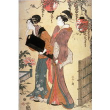 Eishi: Two Geisha in a Garden, right panel of a triptych - Legion of Honor