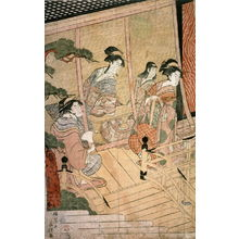 Eiri: Return of Prince Genji from a Shinto Shrine, part 1 of a pentaptych - Legion of Honor