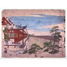 Maruyama Okyo: Archery Contest at the Sanjusangen Hall, from an untitled series of Kyoto landscapes for an optical viewer device - Legion of Honor