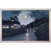 Ogura Ryuson: Full Moon at Suidobashi from an untitled series of western-style views of Tokyo - Legion of Honor