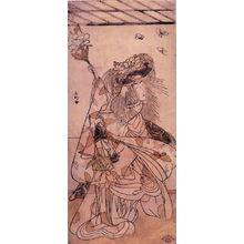 勝川春好: Ichitawa Tamizo as a Lion Dancer with Butterflies - Legion of Honor