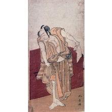 Katsukawa Shunsho: Nakamura Nakazo , possibly as Amakawaya Gihei Stnading Beside a Wooden Chest in act 10 of Chushingura - Legion of Honor