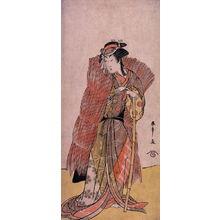Katsukawa Shunsho: The actor Segawa Kikunojo II (or Kikujiro) as a Woman in a Straw Wrapper - Legion of Honor