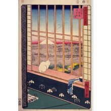 歌川広重: The Bird Festival in the Fields near Asakusa (Asakusa tanbo Torinomachi m?de), no. 101 from the series One Hundred Views of Famous Places in Edo (Meisho Edo hyakkei) - Legion of Honor