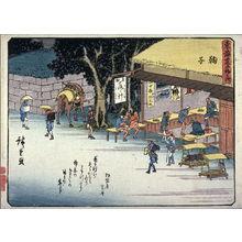 Utagawa Hiroshige: Mariko, no. 21 from a series of Fifty-three Stations of the Tokaido (Tokaido gojusantsugi) - Legion of Honor