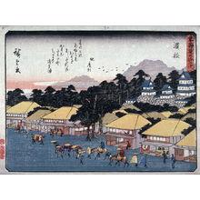 歌川広重: Hamamatsu, no. 30 from a series of Fifty-three Stations of the Tokaido (Tokaido gojusantsugi) - Legion of Honor