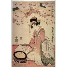 鳥居清満: Five Modern Musicians (Imayo gorin hayashi),fifth panel of the complete pentaptych - Legion of Honor