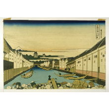 Katsushika Hokusai: Fuji from the Nihon Bashi, Yedo, Looking over Uyena Temple - No.14 from: 36 Views of Fuji - Legion of Honor