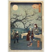 二歌川広重: Moon at the Plum Orchard at Kameido - From: 36 Views of the Eastern Capitol - Legion of Honor
