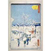 二歌川広重: Snow at the Yushima Tenjin Shrine - From: 36 Views of the Eastern Capitol - Legion of Honor