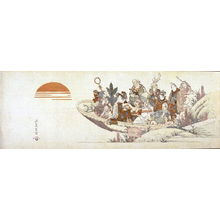 Kitakasa Shigenobu: [Ferryboat on the Sumida River on New Year's Day] - Legion of Honor