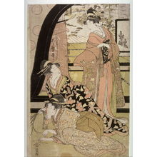 Kitagawa Utamaro: Women Drawing Strings for Prizes, right panel of a triptych - Legion of Honor