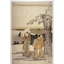Kitagawa Utamaro: Hare on a Clear Day at Nippori (Nippori no seiran) from the series Eight Views of Edo (Edo hakkei) - Legion of Honor