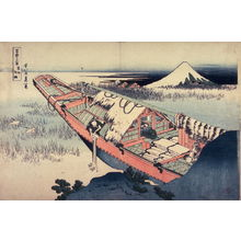 Katsushika Hokusai: Fuji from Ushibori in Hitachi Province, from the series Thirty-Six Views of Mount Fuji - Legion of Honor
