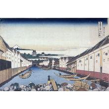 葛飾北斎: Nihon Bridge in Edo, from the series Thirty-Six Views of Mount Fuji - Legion of Honor