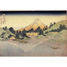 Katsushika Hokusai: Surface of Lake Misaka in Kai Province (Koshu misaka suimen), from the series Thirty-six Views of Mt. Fuji (Fugaku sanjurokkei) - Legion of Honor