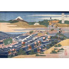 葛飾北斎: Fuji from Kanaya on the T?kaid?, from the series Thirty-Six Views of Mount Fuji - Legion of Honor
