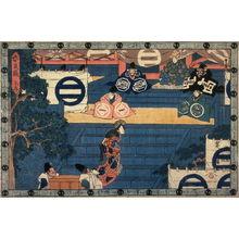 歌川広重: Act 1 (Daijo) from the play Storehouse of Loyalty (Chushingura) - Legion of Honor
