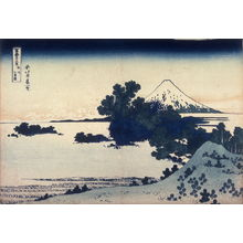 Katsushika Hokusai: Fuji from the Shichirigahama Beach in Sagami Province, from the series Thirty-Six Views of Mount Fuji - Legion of Honor