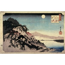 Utagawa Hiroshige: Autumn Moon at Ishiyama (Ishiyama no shugetsu), from the series Eight Views of Omi Province (Omi hakkei) - Legion of Honor