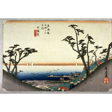 歌川広重: Ocean View Slope at Shirasuka (Shirasuka shiomizaka), no. 33 from the series Fifty-three Stations of the Tokaido (Tokaido gosantsugi no uchi) - Legion of Honor
