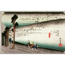 Utagawa Hiroshige: The Sarugababa Area near Futagawa (Futagawa sarugababa), no. 34 from the series Fifty-three Stations of the Tokaido (Tokaido gosantsugi no uchi) - Legion of Honor