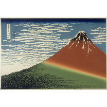 Katsushika Hokusai: Gaifu Kaisei - from 36 Views of Fuji - Legion of Honor