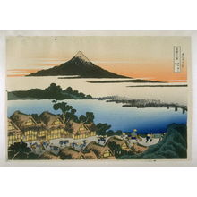 Katsushika Hokusai: Koshu Tzawn-no-Akatsuki - from 36 Views of Fuji - Legion of Honor