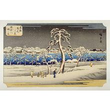 歌川広重: Sumidagawa Tsutsumi no Kei (View from the Sumida River Embankment) - Pl. F from the portfolio Eight Snow Scenes in the Eastern Capital - Legion of Honor