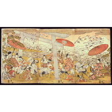 無款: Lord Yoritomo Releasing Cranes at Yuigahama - Legion of Honor