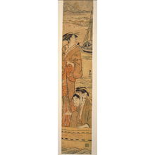 Torii Kiyonaga: Courtesan and Couple Fishing on Edo Bay - Legion of Honor