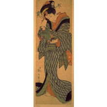 Kikugawa Eizan: Young Woman with Doll - Legion of Honor