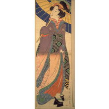 Kikugawa Eizan: Young Woman with Umbrella - Legion of Honor