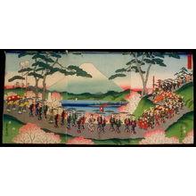 二歌川広重: A Procession of Women on a Journey of Flowers (Hana no tabi onna gyoretsu) - Legion of Honor