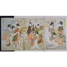 Kikugawa Eizan: Elegant Cloth Bleaching at Nara in Yamato Province (Furyu yamato narazarashi) - Legion of Honor