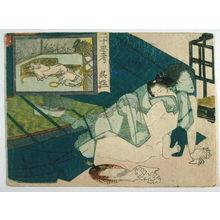 Utagawa School: Shunga: Gomo from the series, Twenty-four Paragons of Filial Piety - Legion of Honor