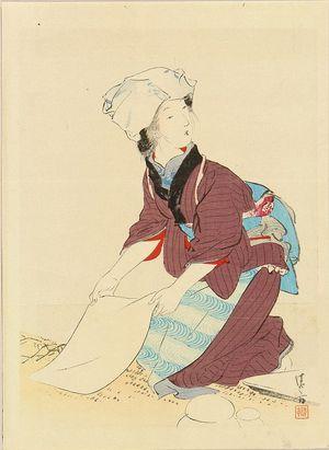 鏑木清方: A frontispiece of a novel, 1908 - 原書房