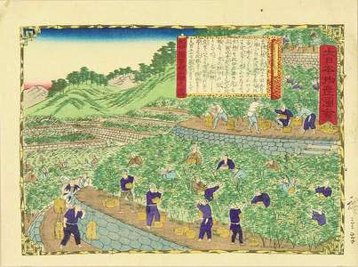 Utagawa Hiroshige III: Tangerne plantation in Kii Province, from - Hara Shobō
