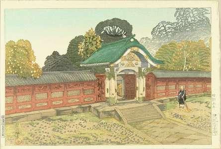 織田一磨: The mausoleum at Shiba, published by Watanabe, 1930 - 原書房
