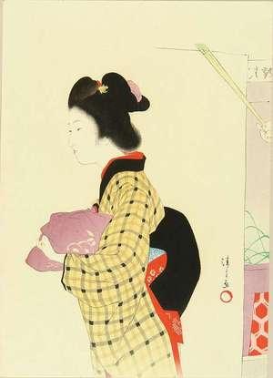 鏑木清方: A frontispiece of a novel, 1903 - 原書房