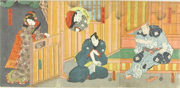 Utagawa Kunisada: Actors in the play - Hara Shobō