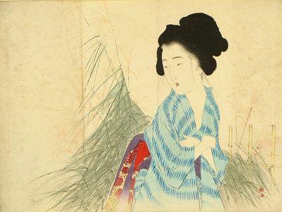武内桂舟: A frontispiece of a novel in - 原書房