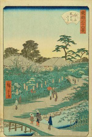 二歌川広重: Flower garden at Mukojima, from - 原書房