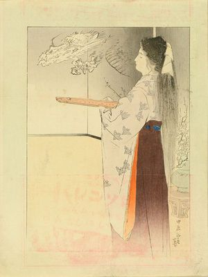 Kajita Hanko: A frontispiece of a novel, 1904 - Hara Shobō