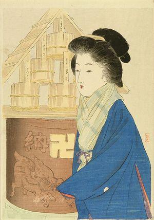 TAKEUCHI KEISYU: A frontispiece of a novel, 1911 - 原書房