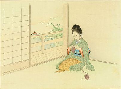 Kajita Hanko: Frontispiece of a novel, from - Hara Shobō